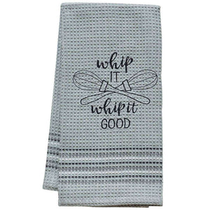 [shop name]:Embroidered Novelty Dish Towel,Whip It