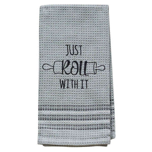 [shop name]:Embroidered Novelty Dish Towel,Just Roll