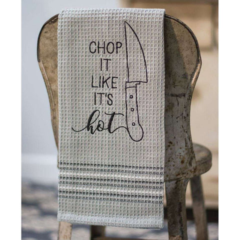 [shop name]:Embroidered Novelty Dish Towel,Chop It