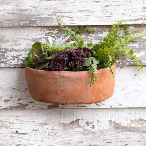 [shop name]|Medim Terra Cotta Wall Planter:Pots & Planters