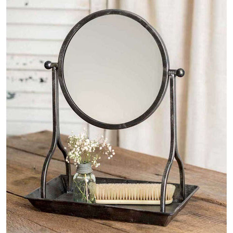 [shop name]|Vanity Tray with Round Mirror:Bathroom Decor