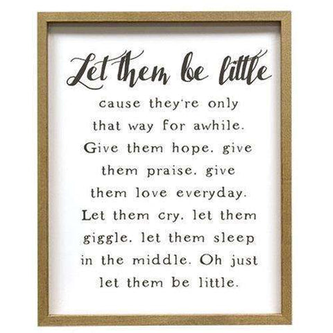 "[shop name]|21"" Let Them Be Little Wood Framed Sign:Wall Decor & Accessories"