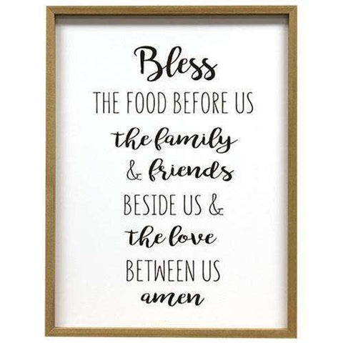 "[shop name]|25"" Bless the Food Wood Framed Sign:Wall Decor & Accessories"