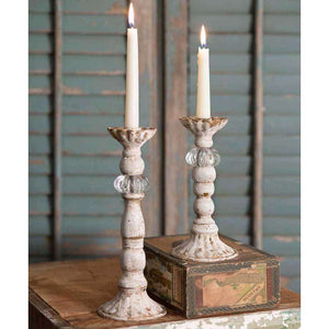 [shop name]|Chrissy Taper Candle Holders- Set of 2:Candle Holders & Accessories