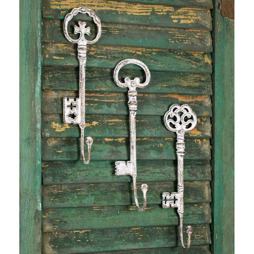 [shop name]|Cast Iron Oversized Key Hooks-Set of 3:Wall Decor & Accessories