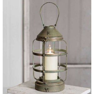 [shop name]|Ribbed Pillar Candle Lantern:Candle Holders & Accessories