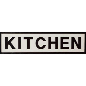 "[shop name]|30"" Metal Kitchen Wall Sign:Wall Decor"