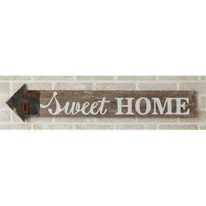 "[shop name]|36"" Wood Sweet Home Wall Arrow Sign:Wall Decor & Accessories"