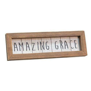 [shop name]|Amazing Grace Framed Easel Tabletop Sign:Wall Decor & Accessories