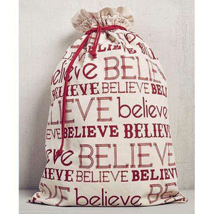 [shop name]|Believe Christmas Gift Sack- 22 x 32:Winter Decor