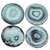 [shop name]|Blue Faux Agate Coasters- Set of 4:Other Accent Decor