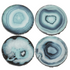 Blue Faux Agate Coasters- Set of 4