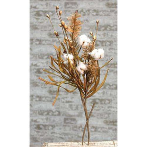 [shop name]|Fall Grass and Cotton Branch- 28 in.:Floral Decor
