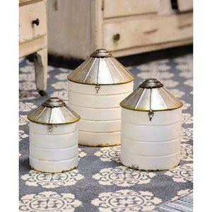 [shop name]|Fixer Upper Style White Silos, Set of 3:Other Accent Decor