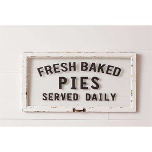 [shop name]|Fresh Pies Rustic Kitchen Sign:Kitchen Decor & Accessories