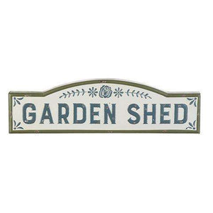 [shop name]|Garden Shed Metal Wall Sign- 32 inches:Wall Art & Signs