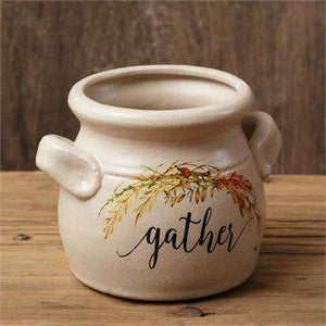 [shop name]|Gather Small Ceramic Crock:Kitchen Decor & Accessories