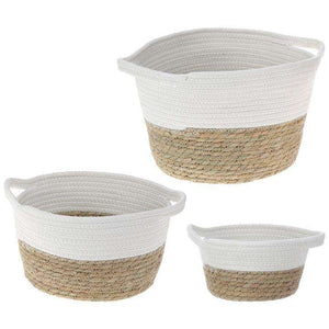 [shop name]|Grass and Jute Baskets- Set of 3:Other Accent Decor