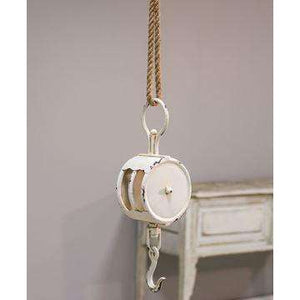 [shop name]|Jute Rope White Pulley:Other Accent Decor