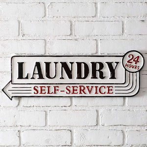 [shop name]|Metal Laundry Hour Sign:Wall Decor