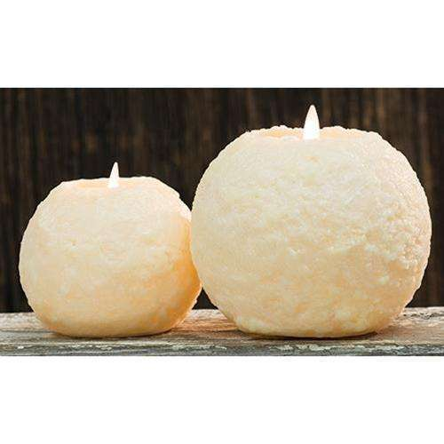 [shop name]|Round Cake LED Flicker Candle, Ivory:Candle Holders & Accessories