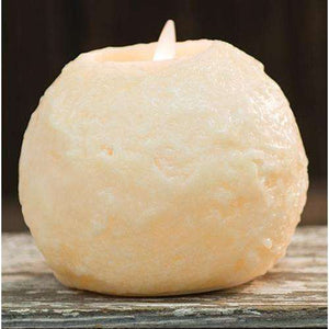 "[shop name]:Round Cake LED Flicker Candle, Ivory,3.5"" Tall"