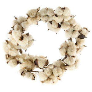 [shop name]|Tea Stained Cotton Wreath- 12 in.:Fall Decor