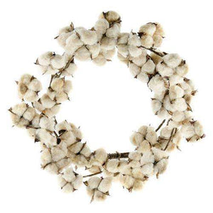 [shop name]|Tea Stained Cotton Wreath- 16 in.:Fall Decor