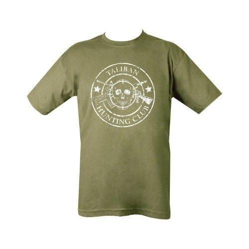 Kombat Mens Military Printed Army Combat Taliban Hunting Club T-Shirt Green - Large - Bear Essentials Clothing Company
