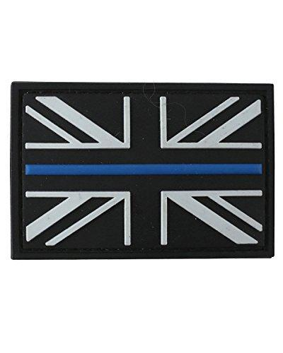 Kombat Thin Blue Line Patch PVC With  Backing - Bear Essentials Clothing Company