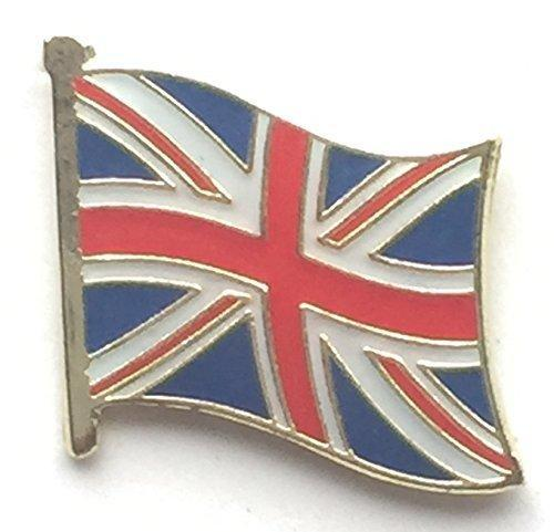 Union Jack Waving Flag Great Britain Quality enamel lapel pin badge