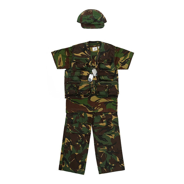 "Kids Army Camouflage Lightweight Army Kit - Ages 3 - 14 Years (Age 11-12 Waist 29""Chest 34"") - Bear Essentials Clothing Company"