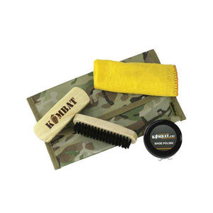 Combat Boot Care Kit With Brown Polish - Bear Essentials Clothing Company