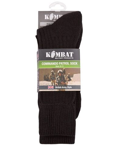 Kombat Commando Cadet Patrol Socks Olive Green 6-11 - Bear Essentials Clothing Company