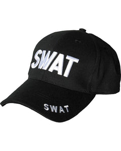 Mens Mlitary Combat Black Swat Baseball Cap Hat Sun Visor New