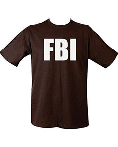 Mes FBI Black 100% Cotton T-shirt