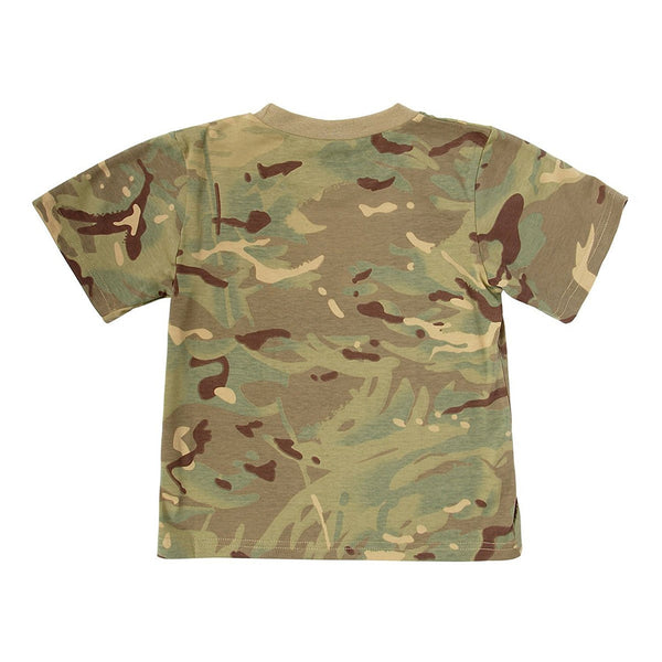 Kids Army MTP Camouflage Cotton T-Shirt - Multi Terrain Camo Ages 3 - 13 Years - Bear Essentials Clothing Company