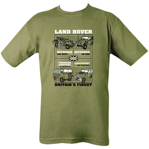 Kombat UK Men's Land Rovers T-Shirt - Bear Essentials Clothing Company