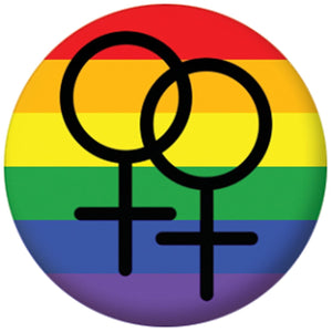 Gay Female Pride Button (Size is 1.5 inch/38mm diameter) - Bear Essentials Clothing Company