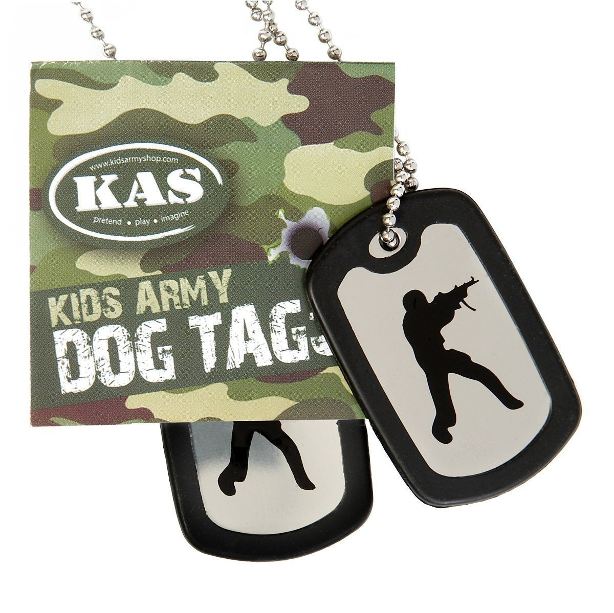 Army Dog Tags - Stainless Steel Military Dog Tags - Including Silencers - Kids/Adults - Bear Essentials Clothing Company