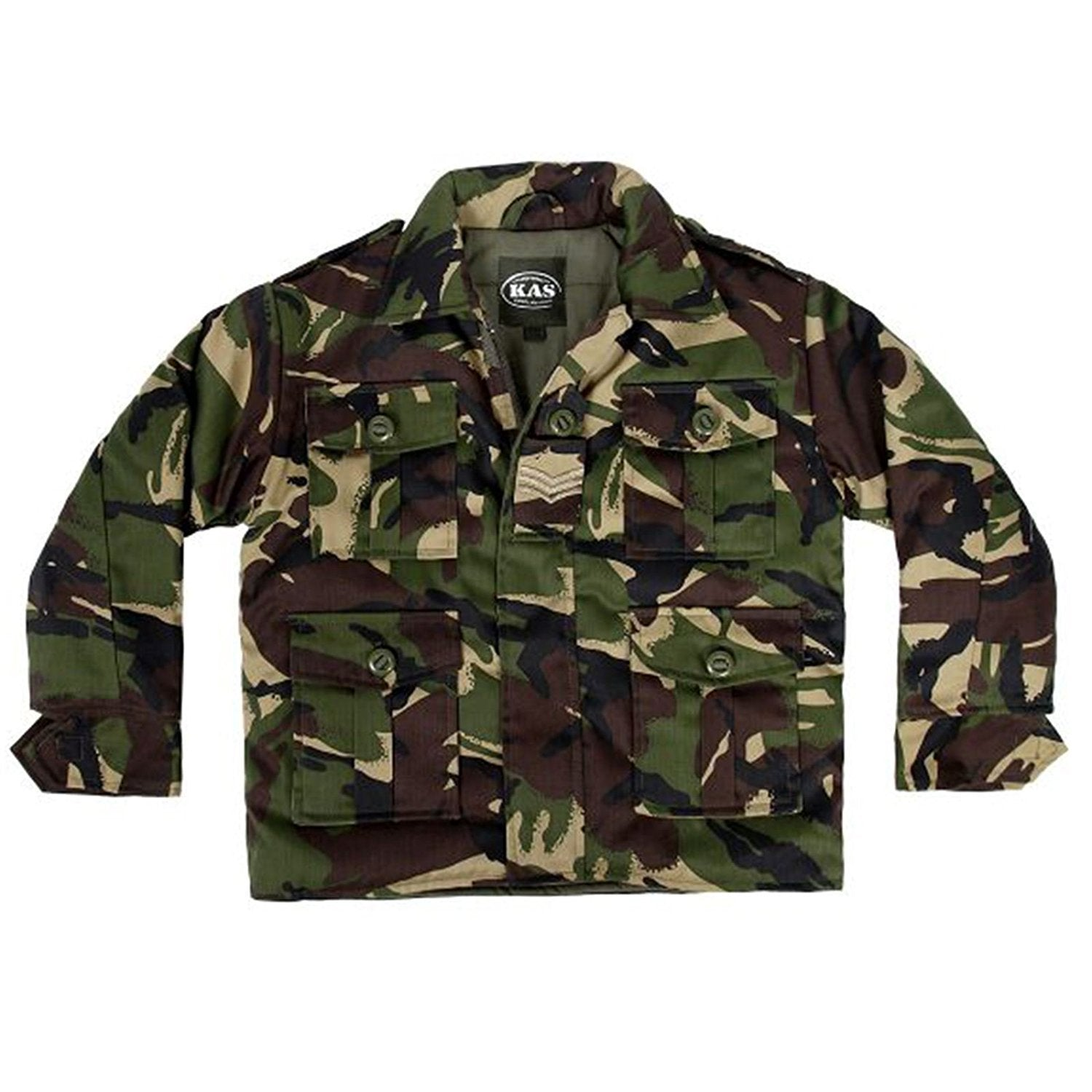 KAS KIDS BOYS COMBAT PADDED JACKET ARMY CLOTHING UNIFORM CAMO CADET CAMOUFLAGE - 7/8 yrs - Bear Essentials Clothing Company