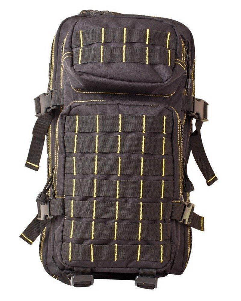 Kombat UK Small MOLLE Assault Pack 28 Litre - (Black and Yellow) - Bear Essentials Clothing Company
