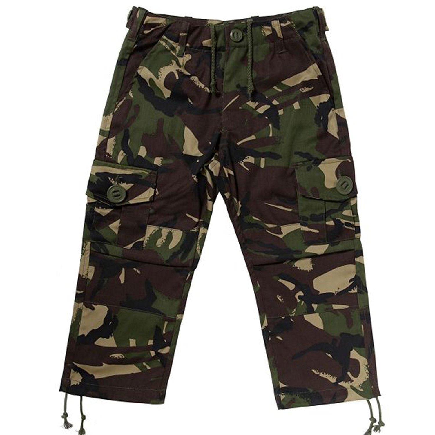 KAS Kids Army Cadet Combat Woodland Camo Trousers - 7/8yrs - Bear Essentials Clothing Company