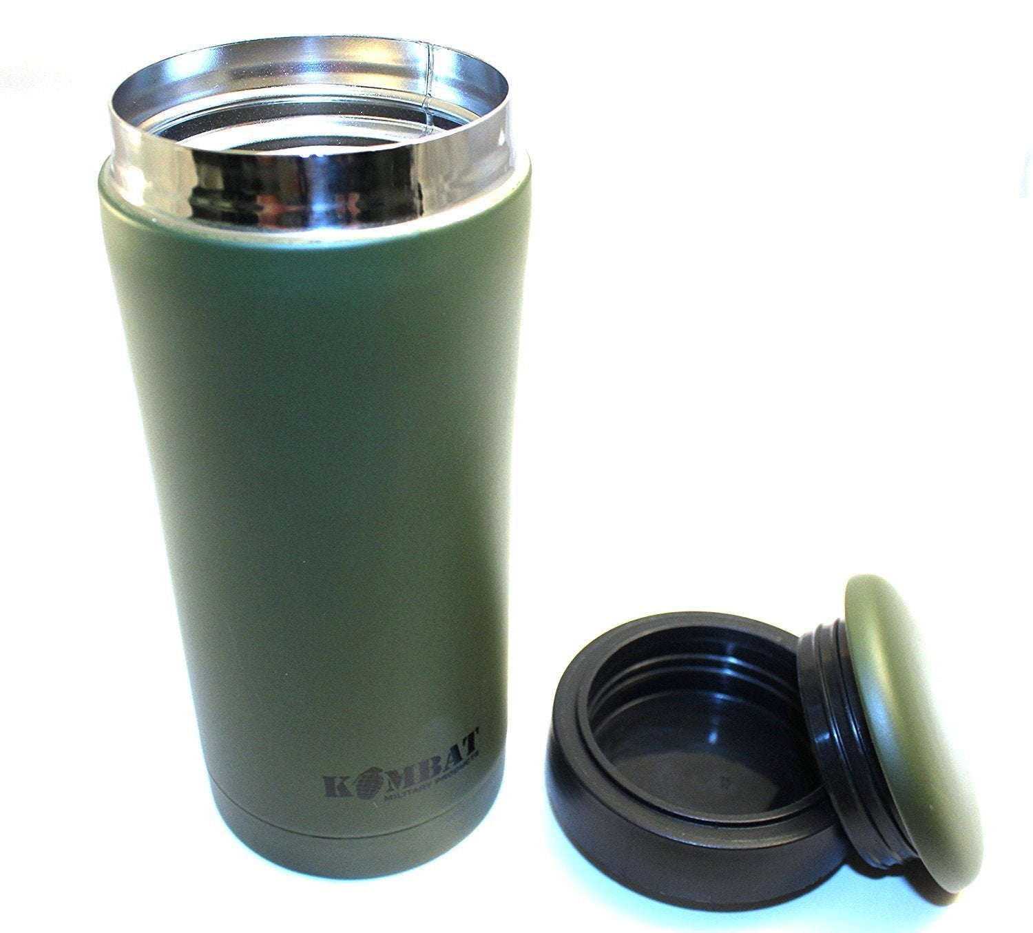 Kombat Sealed Thermal Mug Olive Flask Ammo Flask - Bear Essentials Clothing Company