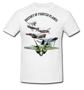 Bear Essentials Clothing. History Of Fighter Planes T Shirt - Bear Essentials Clothing Company