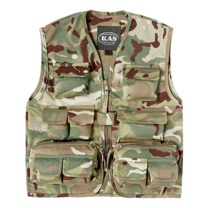 Kids Army Multi Terrain Camouflage Action Vest Ages 3-8 Roleplay Fancy Dress - Bear Essentials Clothing Company