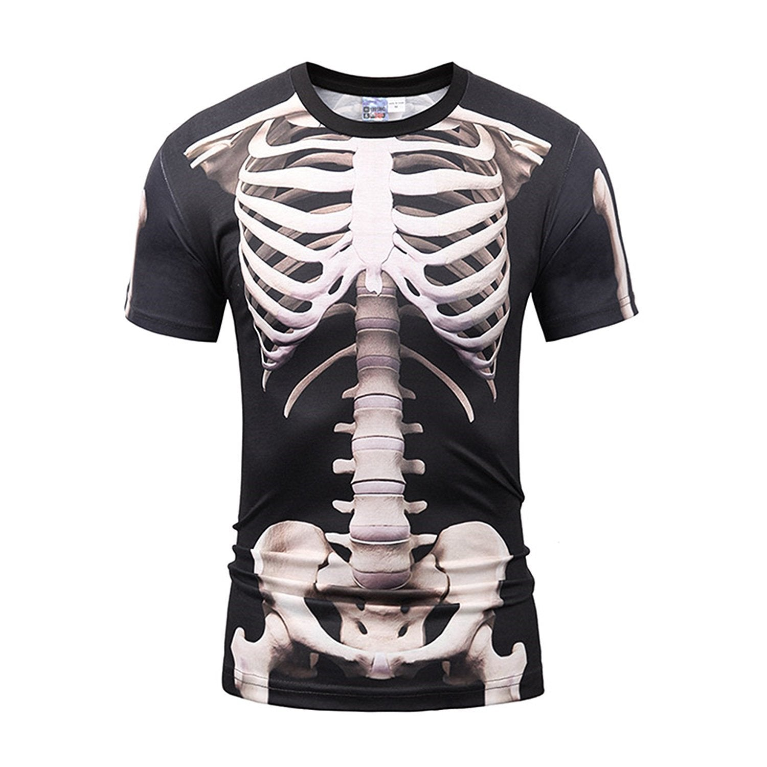 Bear Essentials Clothing Company 3D Print t Shirt Skeleton Design Slim Short Sleeve T-Shirt - Bear Essentials Clothing Company