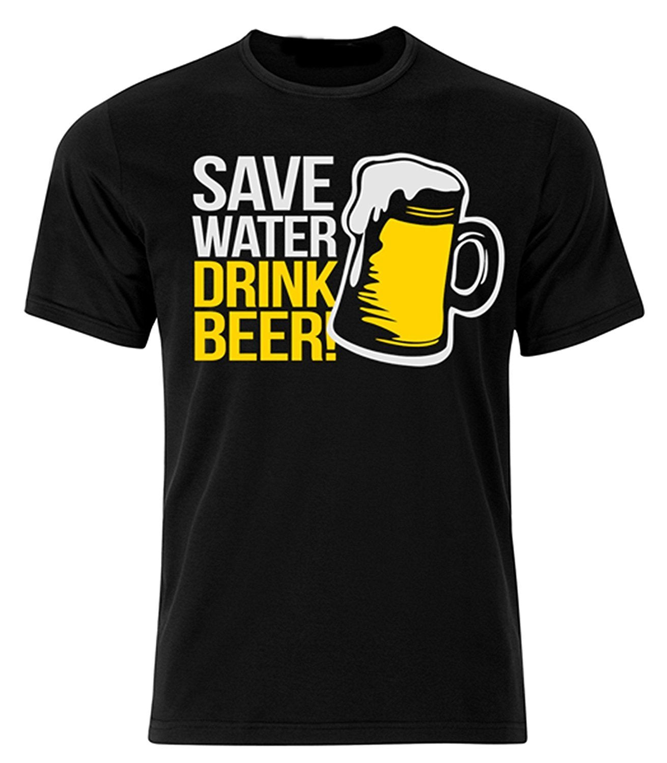 Bear Essentials Clothing. Save Water Black T-Shirt - Bear Essentials Clothing Company