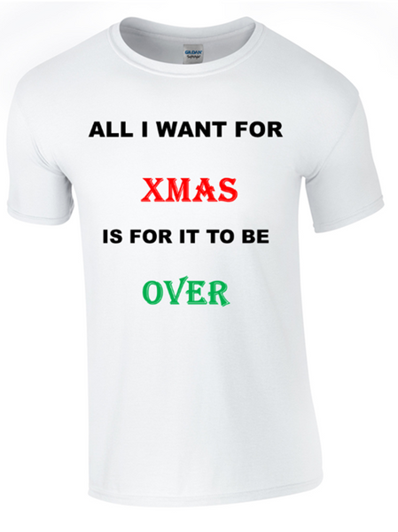 All I Want for Christmas T-Shirt - Bear Essentials Clothing Company