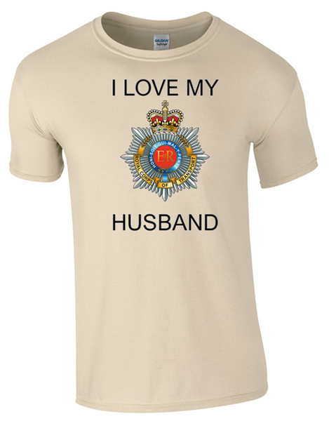 I Love my Royal Corp Transport (RCT) Husband T-Shirt Official MOD Approved Merchandise - Bear Essentials Clothing Company